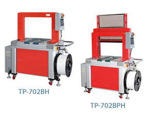 Mercury Transit TP-702BH and TP-702BPH fully automatic strapping machines with PLC and HMI