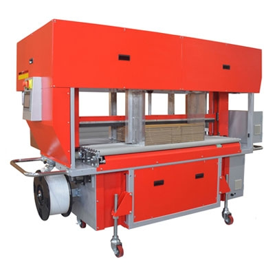 TP-702CQ3-S High Speed Corrugated Strapper with Integrated Squaring System