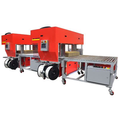 TP-702CQ3-T High Speed Corrugated Strapper with Integrated Squaring System